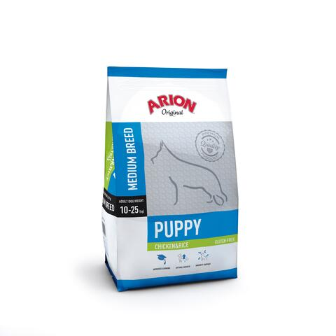 Puppy Medium Breed – Kylling & Ris 12kg