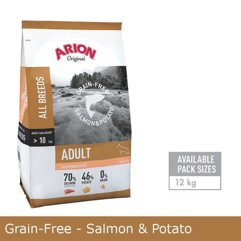 Grain-Free - Salmon & Potato Hundefoder 12kg