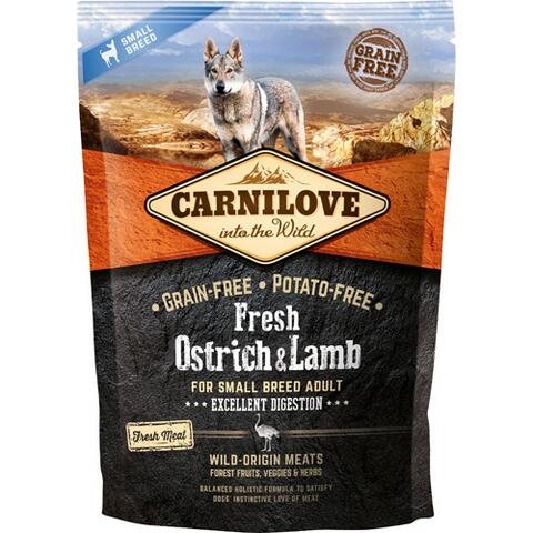 CarniLove Frisk Struds & Lam Small Breed 1,5kg