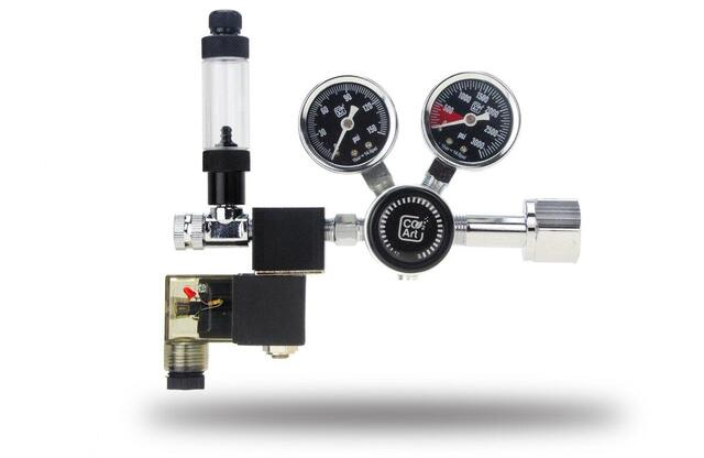PRO-SE-serien - akvarium CO2 Dual Stage Regulator med integreret Solenoidventil